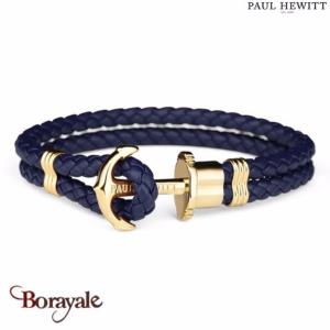 Bracelet PAUL HEWITT collection Phreps cuir PH-PH-L-G-N-L ( taille L )