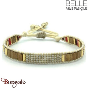"Bracelet ""Belle mais pas que"" collection Golden rouge B-1017-GRO"