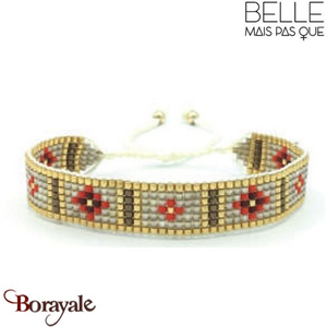 "Bracelet ""Belle mais pas que"" collection Golden rouge B-1175-GRO"