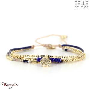 bracelet -Belle mais pas que- collection Winter Deep Blue B-1795-WDEEP