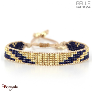bracelet -Belle mais pas que- collection Winter Deep Blue B-1796-WDEEP