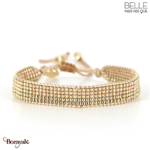 bracelet -Belle mais pas que- collection Golden Almond B-1800-ALMD