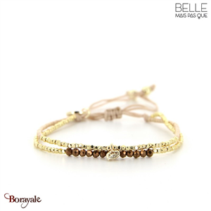 bracelet -Belle mais pas que- collection Golden Almond B-1817-ALMD