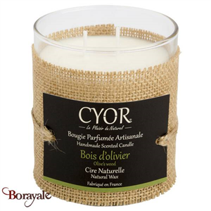 Grande Bougie Parfumée CYOR Bois d'olivier: Made in France