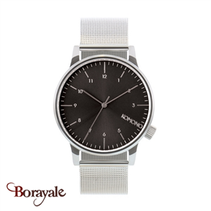 Montre KOMONO Collection WINSTON ROYALE SILVER BLACK KOM-W2357