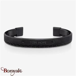 Bracelet TOM HOPE Hybrid cuir triple black Taille: M