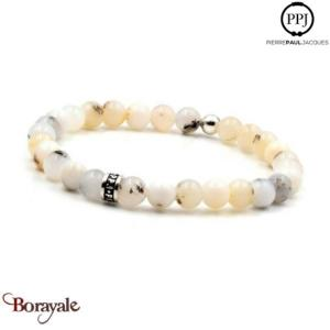Opale Nature: Bracelet Pierres fines 6 mm PPJ Taille M