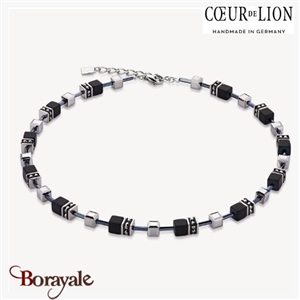 Nuance : 1317, Collier Cœur de lion with SWAROVSKI Elements et hématite