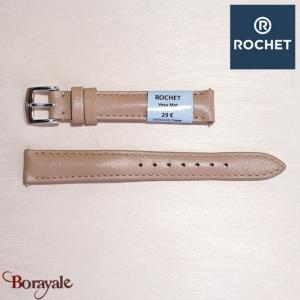 Bracelet de montre Rochet , New York de couleur : beige, 14 mm