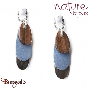 Collection Cloudy, Boucles d'oreilles Nature Bijoux 12--72320