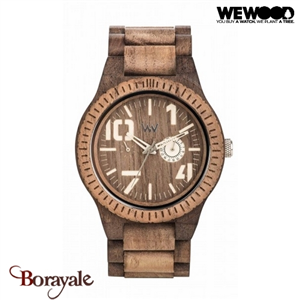 Montre en bois WEWOOD OBLIVIO choco nut rough 70332-514