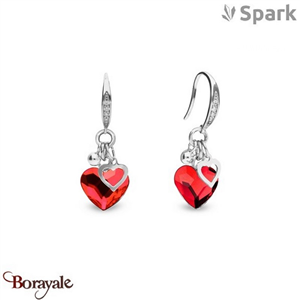 Boucles d'oreilles SPARK with Swarovski : Bliss - Rouge thaï