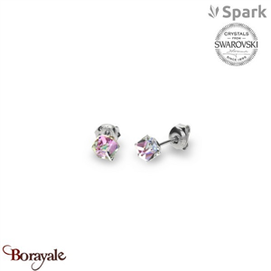 Boucles d'oreilles SPARK with Swarovski : Cube Small 6 Mm - Vitrail Light