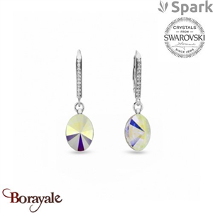 Boucles d'oreilles SPARK collection oval chic made with Swarovski Elements A959A