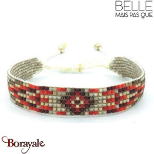 "Bracelet ""Belle mais pas que"" collection Golden rouge B-1002-GRO"
