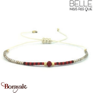 "Bracelet ""Belle mais pas que"" collection Golden rouge B-1098-GRO"