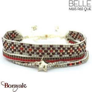"Bracelet ""Belle mais pas que"" collection Golden rouge B-1176-GRO"