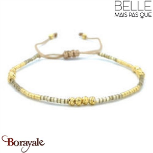 "Bracelet ""Belle mais pas que"" Collection Gold Bora Bora B-1361-GBB"