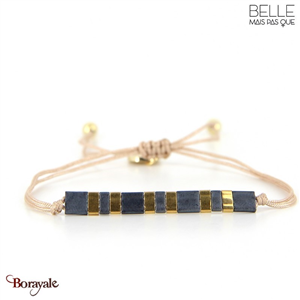 bracelet -Belle mais pas que- collection Winter Deep Blue B-1803-WDEEP