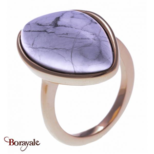 Bague Howlite blanche, Collection: Galet YOLA