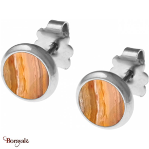 Boucles d'oreilles Agate crazy Lace, Collection: Cabochon YOLA