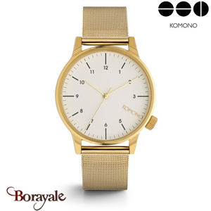 Montre KOMONO Collection WINSTON ROYALE GOLD WHITE KOM-W2358