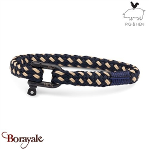 Bracelet PIG & HEN Hairy Harry Navy-Sand  Black XL (21cm)