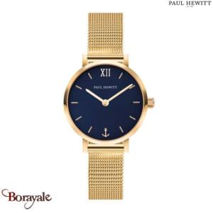 Montre PAUL HEWITT Modest Blue Lagoon Or Mesh PH-SA-G-XS-B-45S