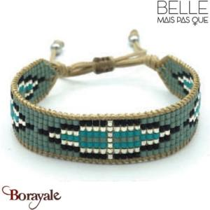 "Bracelet ""Belle mais pas que"" collection Blue Silver B-1008-BS"