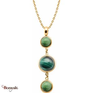 Collier zoïsite , malachite et zoïsite, Collection: Cabochon YOLA