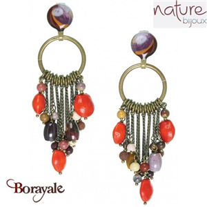 Collection Gypsy, Boucles d'oreilles NATURE Bijoux 12--25182