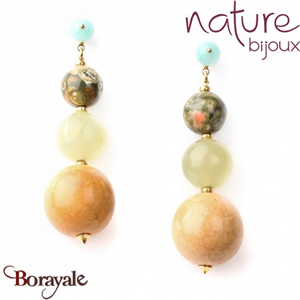 Collection Danube, Boucles d'oreilles Nature Bijoux 12--73000