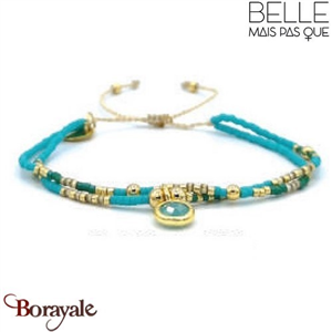 "Bracelet ""Belle mais pas que"" Collection Gold Bora Bora B-1271-GBB"