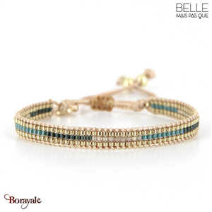 bracelet -Belle mais pas que- collection Gold Pastel Green B-1543-PASTL