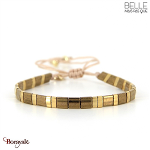 bracelet -Belle mais pas que- collection Golden Almond B-1802-ALMD