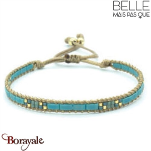 "Bracelet ""Belle mais pas que"" collection Golden Blue Lagoon B-977-GBL"
