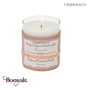 Bougie traditionnelle DURANCE 180g Lavande