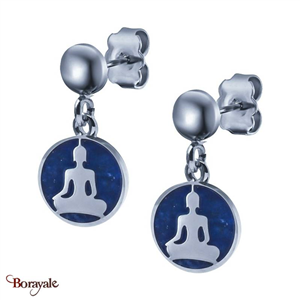 Boucles d'oreilles Lapis Lazuli, Collection: Bouddha YOLA