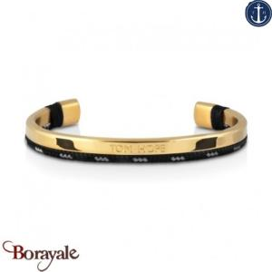 Bracelet Tom Hope Hybrid Cuff, Gold-Blue-Gris: Taille S