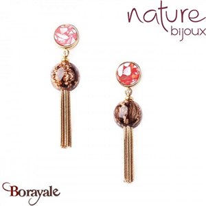 Collection Cappucino, Boucles d'oreilles NATURE 12--76964