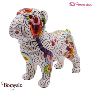Bulldog Anglais décoratif max  Pomme Pidou circles of life Taille L