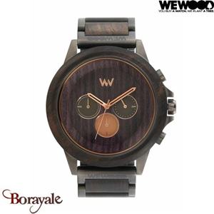 Montre en bois WEWOOD Etherum Black Gun Rose 70112-317