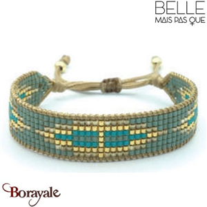 "Bracelet ""Belle mais pas que"" collection Golden Blue Lagoon B-1008-GBL"