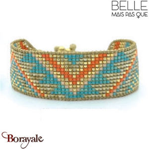 "Bracelet ""Belle mais pas que"" Collection Golden Caraïbes B-1266-GC"