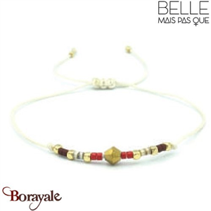 "Bracelet ""Belle mais pas que"" collection Golden rouge B-780-GRO"