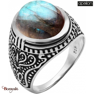Bague Labradorite, Collection: homme APOLLON Taille 64