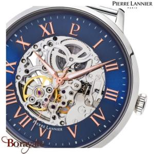 Montre PIERRE LANNIER Collection AUTOMATIQUE argenté milanais Homme