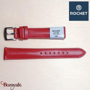 Bracelet de montre Rochet , New York de couleur : rouge, 16 mm