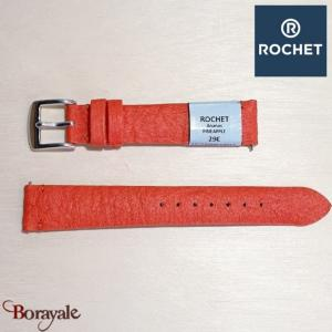 Bracelet de montre Rochet , Pineapple de couleur : rouge, 16 mm