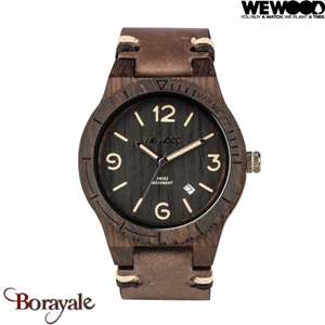 Montre en bois WEWOOD Alpha Swiss mouvement Black Rough 70361-312